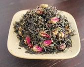 2 oz - Indulge with Organic Rose Mint Jasmine Green tea blend