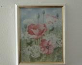 Reserved for Linda Vintage Norway Norwegian porcelain plaque  wall handing  Porsgrund framed