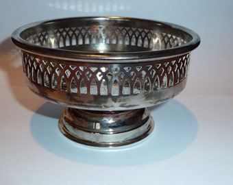 Vintage silver plate candi bowl. Made in Sweden