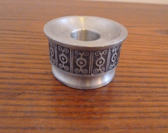 Vintage tinn zink  Norway candle holder