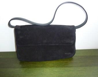 Fabriqué en Italie Pollini sac en sac à main cuir noir vimare.