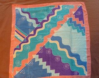 Vintage silk scarf .Made in Japan