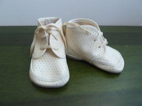 Vintage newborn baby shoes