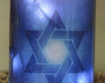 Lighted Bottle Star of David