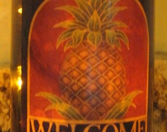 Lighted Welcome Bottle