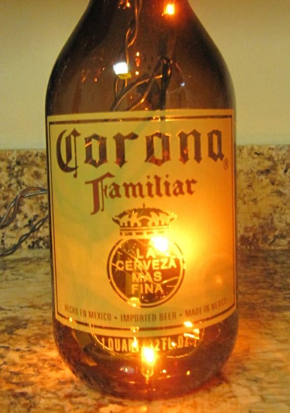 Lighted Corona Bottle
