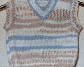 Baby sweater, sleevless tank top, hand knit