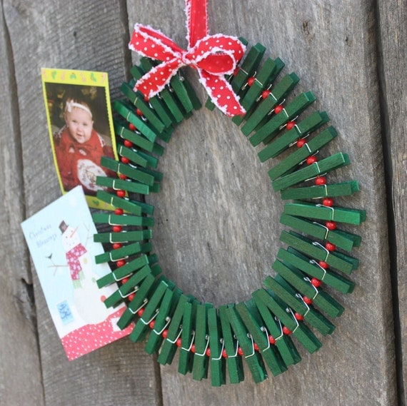 Christmas Wreath/ Card Holder By RippedNTornBoutique On Etsy