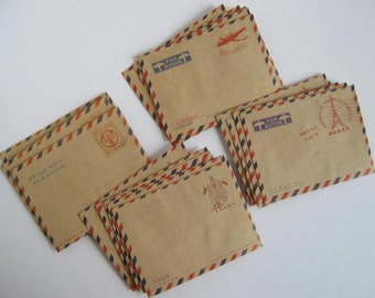 Set 20 Mini Vintage Envelopes