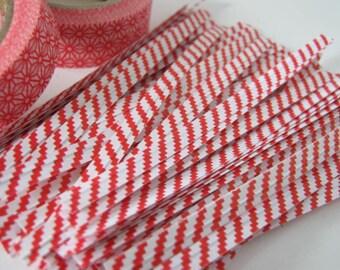 Set of 50 Red/White twist ties