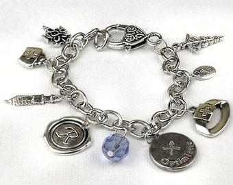 Personalized Nurse Bracelet with Your Initial, Zodiac and Birthstone