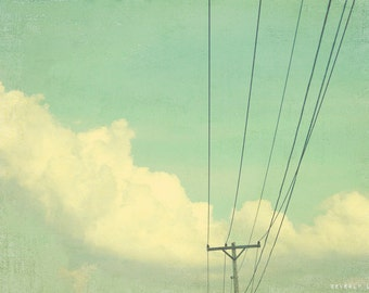 blue, teal, clouds, sky, fine art photography