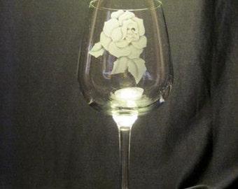 Clear Decorative Wine Glass