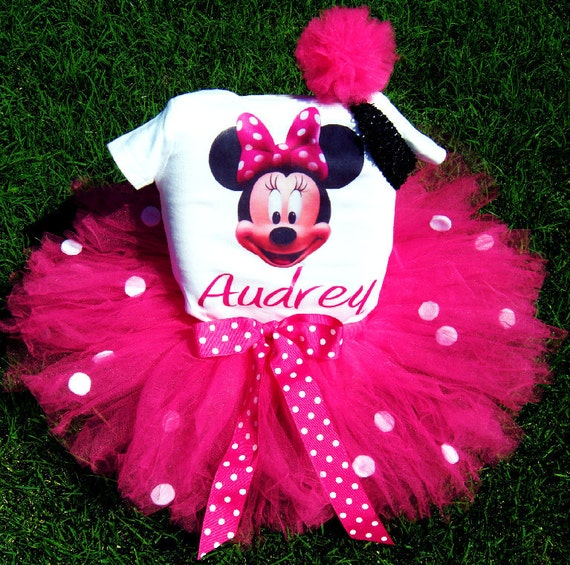 Items Similar To 1st Birthday Minnie Mouse Tutu Outfit