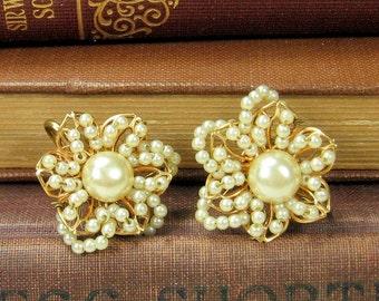 Vintage Faux Pearl Earrings