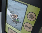 Custom Order Dog Frame -- Include the Name and Picture of your Dog