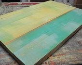 """ORIGINAL Abstract Contemporary Painting Textured Landscape by RACEPONY 36""""x24"""" - beach"""