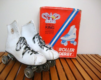 Vintage Roller Skates with Metal Wheels