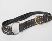 leather stud belt