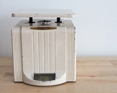 RESERVED:  1940s Kitchen Scale - Vintage White Art Deco Household Scale from Landers Frary & Clark