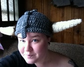 Crochet Horned Viking Hat
