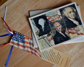 Patriotic Note Card & Bookmark set