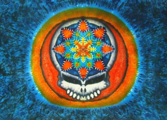 Tie Dye Tapestry ~ GIANT Mandala Deadhead Tapestry