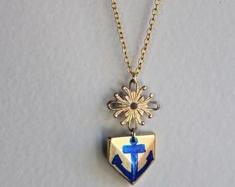 Anchor Necklace // Chevron Necklace