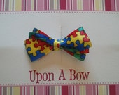 Autism Awareness Bow Hair Clip