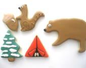Camping and Wildlife Sugar Cookies - 1 Dozen