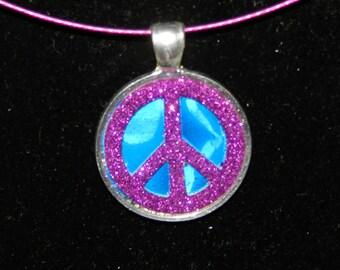 Perfectly Purple Peace Pendant