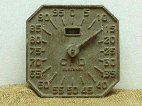 Vintage French Petroleum/Diesel /Gas Pump Dial INDUSTRIAL LOFT