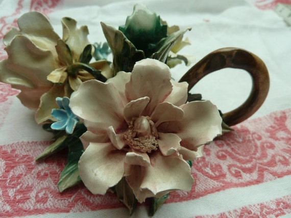 Vintage French Shabby Chic Candle Holder.....