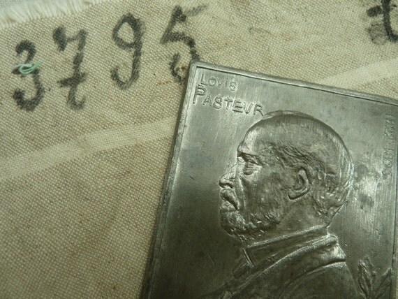 French Commemorative Plaque of Louis Pasteur