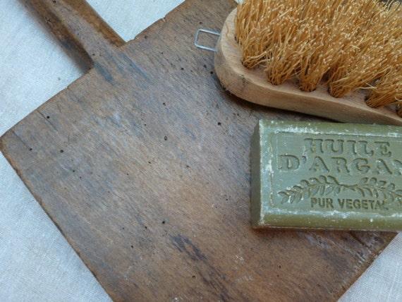 Vintage French Wooden Washing Paddle.