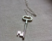 skeleton key necklace your key to the secret garden collection for winter christmas on 30 inch chain extra long fashion door key