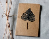 moleskine journal. botanical original print ivy leaf kraft paper. gift for nature lover and writer. for man or woman unisex
