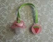 Pacifier clip- watermelon