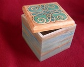 Celtic Knot Square Pyrography Decorated Wood Box