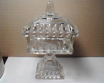 Vintage Covered Glass Candy Dish