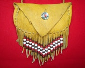 Native American Moose Hide Pouch - P7-4-06