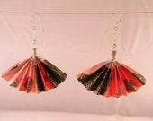 Large Origami Fan Earrings