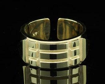 Atlantis Ring Solid Amulet Talisman 14K Yellow Gold
