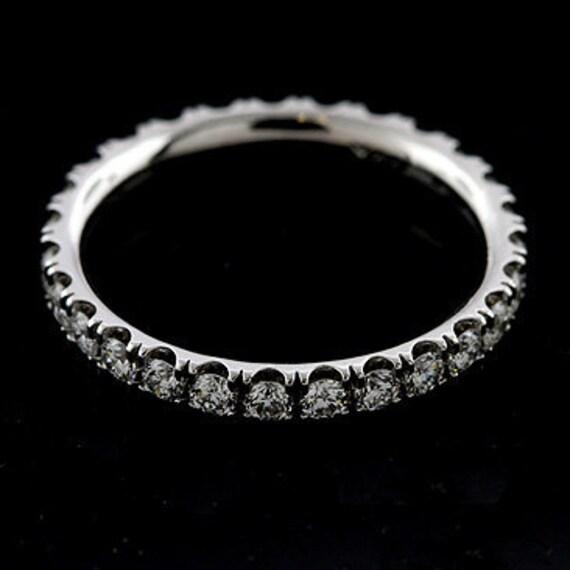 Diamond Wedding Ring, Eternity Women's Wedding Ring, Cut Down Eternity Classic Diamond Wedding Band, Comfort Fit Platinum 950 Band 2.7mm