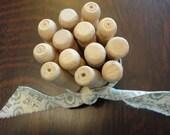 Vintage Wooden Push Clothespins - Bakers Dozen