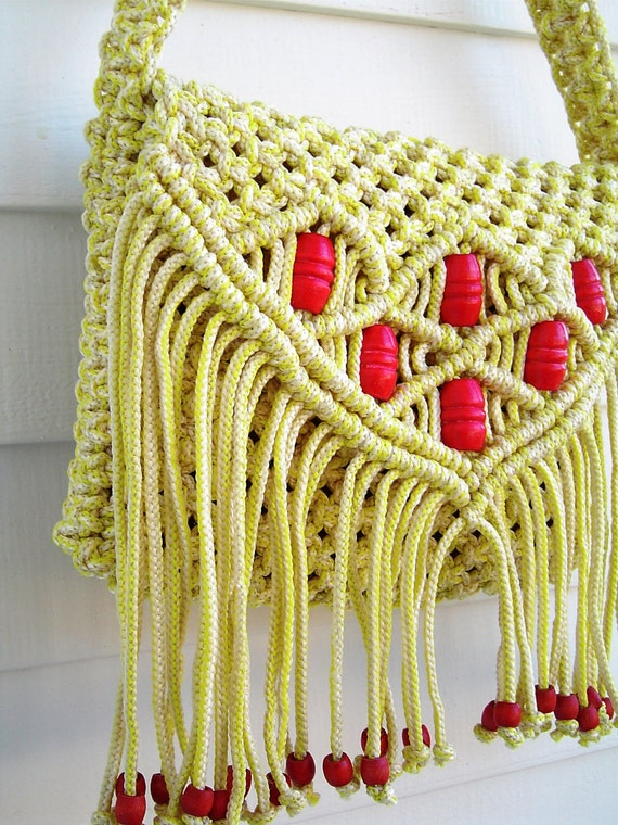 Macrame Purse Patterns Free : ... similar to Vintage 1976 Pattern Free Spirit Macrame Purse on Etsy