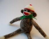 Custom Order for Julie -  Needlefelted Sock Monkey