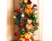 Christmas Teddy Bears Lighted Tree