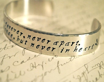 Together Forever Hand Stamped Cuff Bracelet