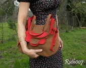 "Hand stittched leather handbag ""Carmen"""